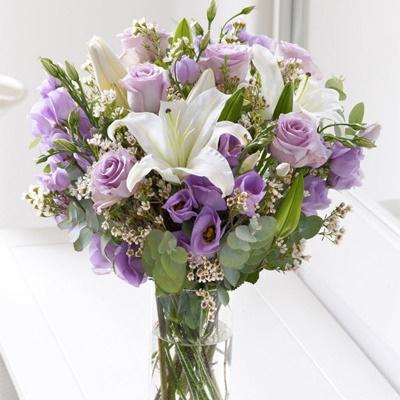 Букет невесты лилии эустомы своими руками